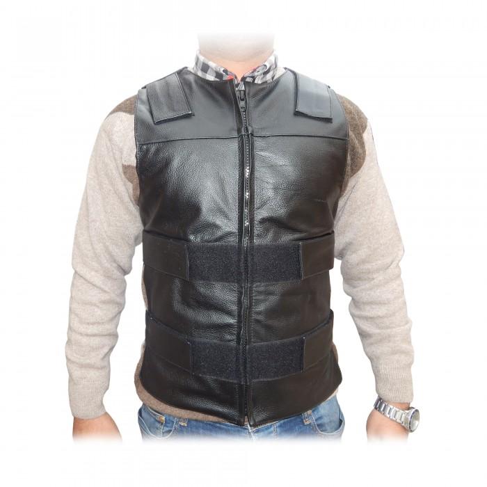 4d5a02902 ARD Champs™ Men's Bullet Proof Style Motorcycle Biker Leather Vest-Black  S-6XL