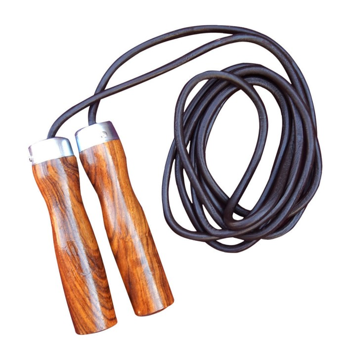 Leather Skipping Speed Rope Adjustable Weighted Boxing Jump Gym Exerc fi