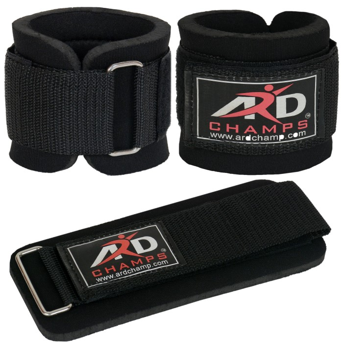 ARD CHAMPS™ Weight Lifting Wrist Wraps Fitness Straps Gym Training Wraps Bandage (Black)