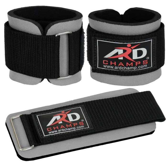 ARD CHAMPS™ Weight Lifting Wrist Wraps Fitness Straps Gym Training Wraps Bandage (Grey)
