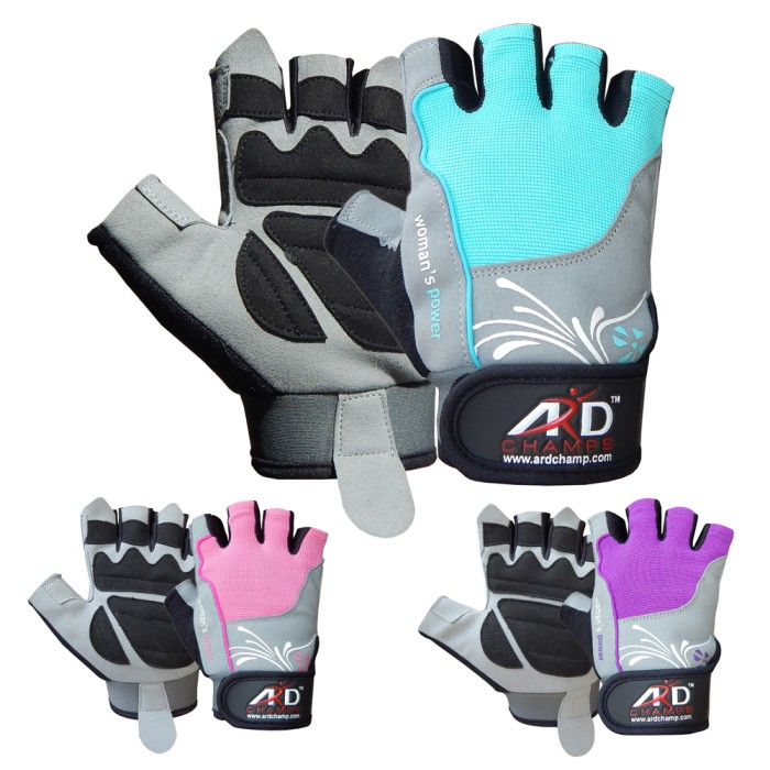 ARD CHAMPS™ Women's Weight Lifting Gloves Gym Training Fitness Leather Gloves