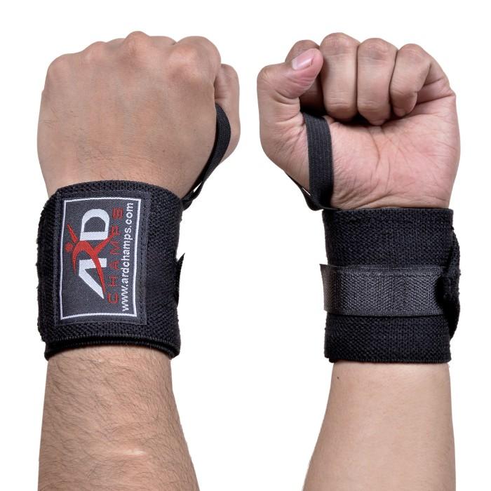 Quality Gym Weight Lifting Strap Heavy Duty Wrist: ARD Wrist Wraps Black