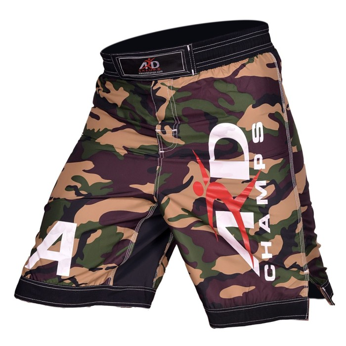 ARD Camo Pro MMA Fight Shorts Yellow Camouflage UFC Cage Fight Grappling