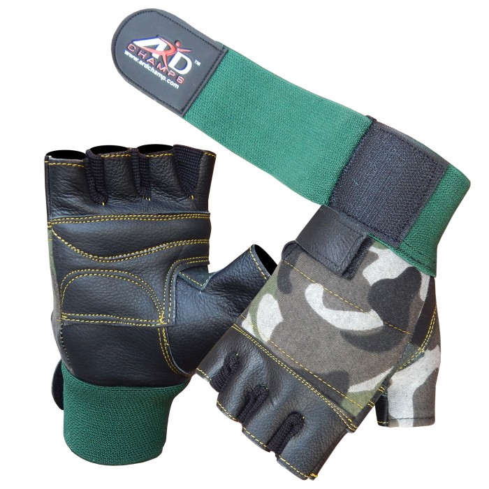 ARD Weight Lifting Gloves White Camo